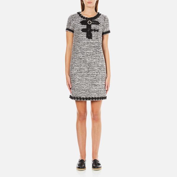 Boutique Moschino Women's Tweed Embellished Dress - Black