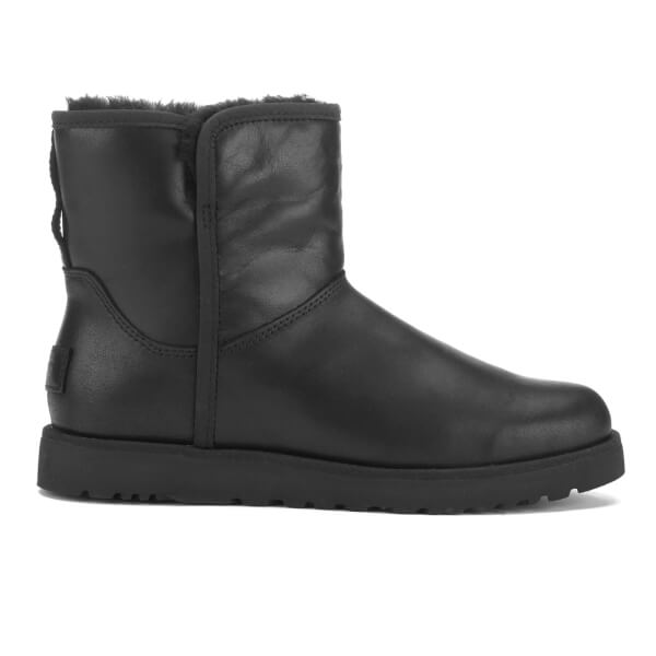 UGG Women's Cory Leather Classic Slim Sheepskin Boots - Black