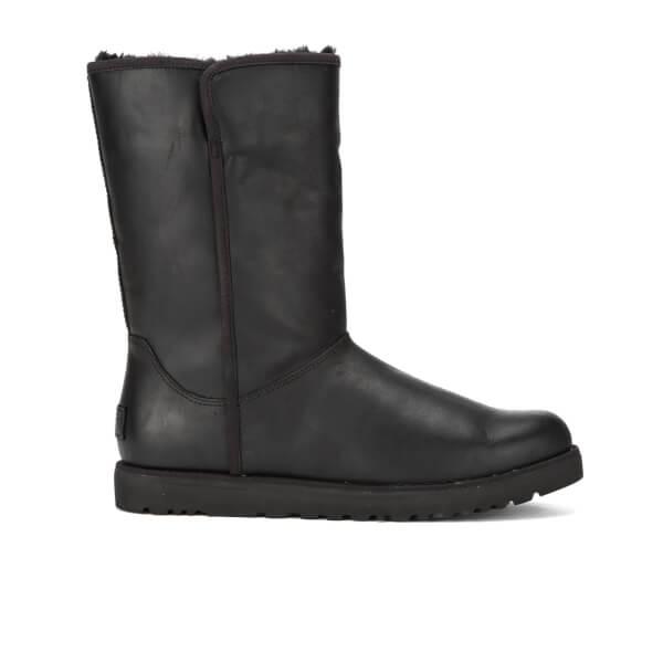 UGG Women's Michelle Leather Classic Slim Sheepskin Boots - Black