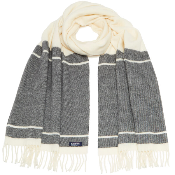 Woolrich Women's Classic Double Wool Scarf - Freeze Grey