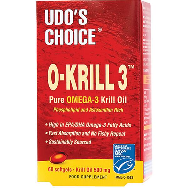 Udo's Choice O-KRILL 3™ Pure Omega-3 Krill Oil - 60 Caps (500mg)