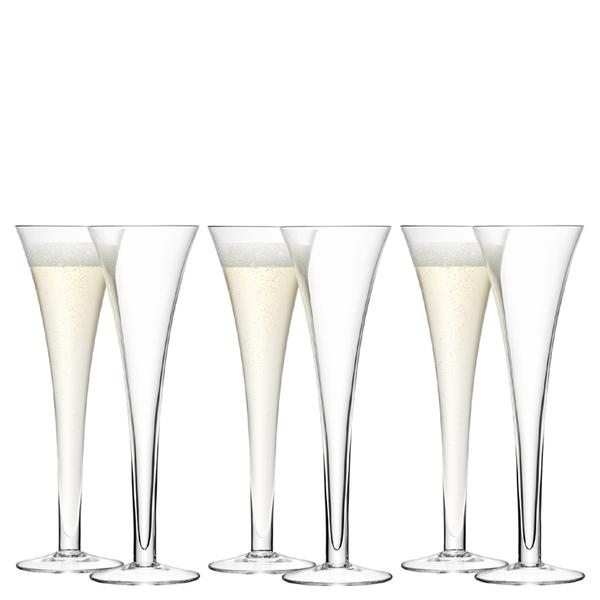 Lsa hollow stem champagne flute 200ml set of 6 homeware - Champagne flutes hollow stem ...