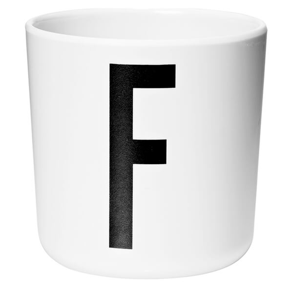Design Letters Kids' Collection Melamin Cup - White - F