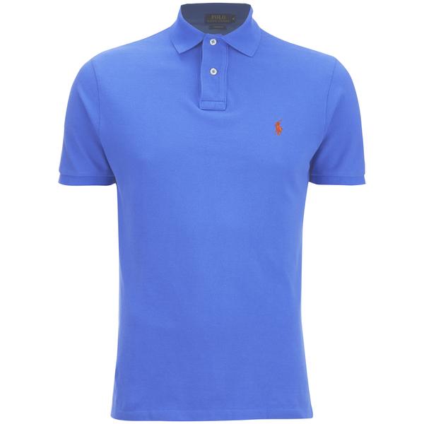 Polo Ralph Lauren Men's Custom Fit Polo Shirt - Cyan Blue