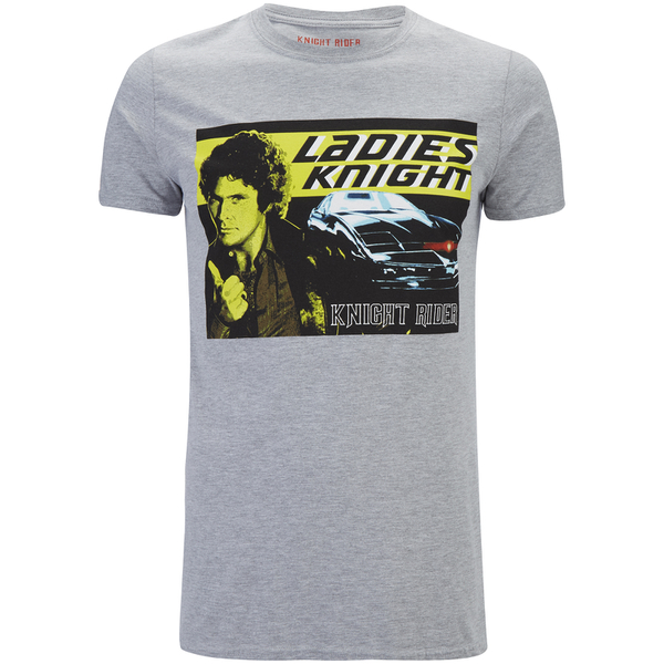 Knight Rider Men's Ladies Knight T-Shirt - Grey Marl