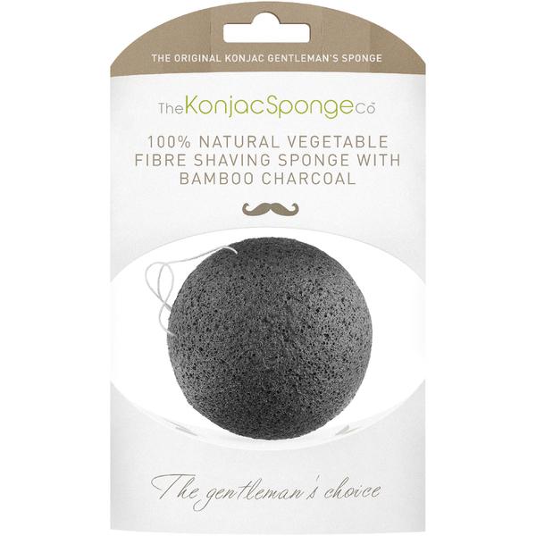 The Konjac Sponge Company Gentlemen's Shaving Sponge with Bamboo Charcoal