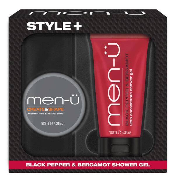 men-u Style+ Black Pepper & Bergamot Shower Gel 100ml - Create & Shape
