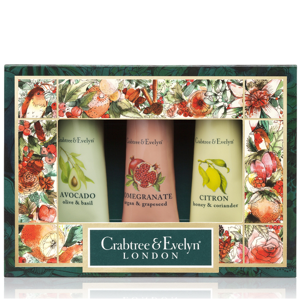CRABTREE & EVELYN BOTANICALS HAND THERAPY SAMPLER 3X25G