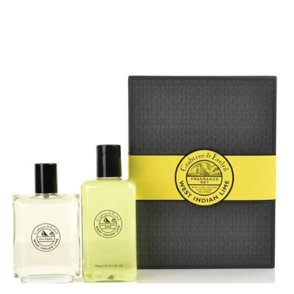 Crabtree & Evelyn West Indian Lime Cologne & Body Wash Duo (Worth £45.00)