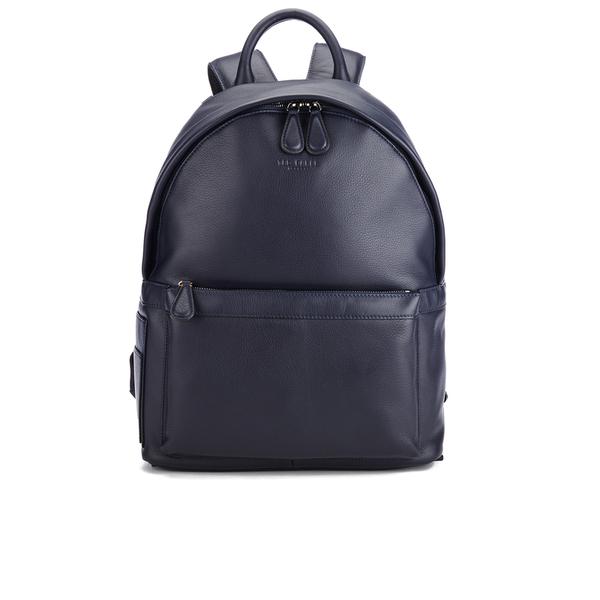 ted baker men 39 s leather backpack navy. Black Bedroom Furniture Sets. Home Design Ideas
