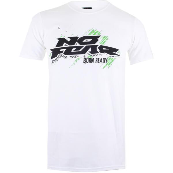 No Fear Men's Born Ready Tyre T-Shirt - White