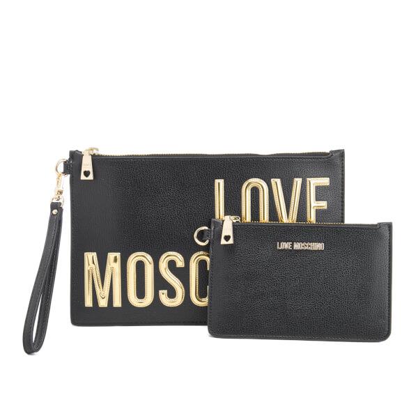 Love Moschino Women's Logo Clutch Bag - Black
