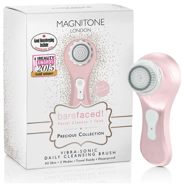 Magnitone London BareFaced Vibra-Sonic™ Daily Cleansing Brush - Rose Quartz