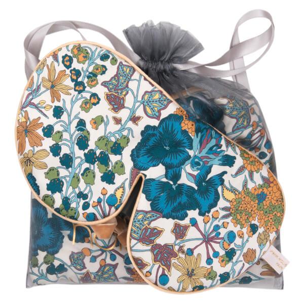 Holistic Silk Anti-Ageing Eye Mask Pillow Case Gift Set - Blue