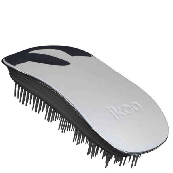ikoo Home Detangling Hair Brush - Black/Oyster Metallic