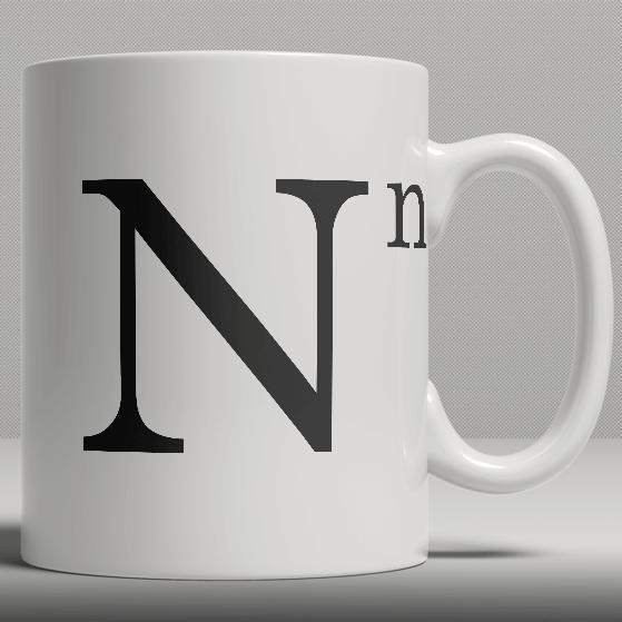 Alphabet ceramic mug letter n iwoot for Alphabet letter mug