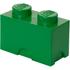 LEGO Storage Brick 2- Dark Green: Image 1