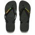Havaianas Unisex Brasil Logo Flip Flops - Black: Image 1