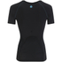 Skins Women's Coldblack Short Sleeve Top - Black/Blue: Image 2