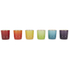 Le Creuset Stoneware Rainbow Espresso Mugs (Set of 6) - Multi: Image 4