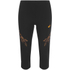 Asics Women's Stripe Running Capri - Black/Fizzy Peach: Image 1