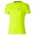 Asics Men's Stripe Shorts Sleeve Running T-Shirt - Safety Yellow: Image 1