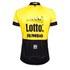 Santini Original Lotto Jumbo 15 Aero Short Sleeve Jersey - Yellow/Black: Image 3