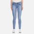 Cheap Monday Women's 'Second Skin' High Waisted Skinny Jeans - Stonewash Blue: Image 1