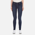 Cheap Monday Women's Second Skin High Waisted Skinny Jeans - Credit Dark Blue: Image 1