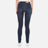 Cheap Monday Women's Second Skin High Waisted Skinny Jeans - Credit Dark Blue: Image 3