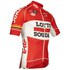 Lotto Soudal Replica Pro Race Short Sleeve Jersey - Red: Image 4