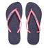 Havaianas Women's Slim Logo Flip Flops - Navy Blue/Pink: Image 1