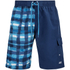 Zoggs Men's Water Check Stockton 21 Inch Swim Shorts Blue Check: Image 1