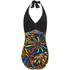 Zoggs Women's Neon Tribal Plunge Swimsuit - Black/Multi: Image 4