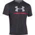Under Armour Men's Sportstyle Logo T-Shirt - Black/Red/Steel: Image 1