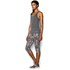 Under Armour Women's Heat Gear Alpha Training Tank Top - Carbon Heather/Metallic Silver: Image 3