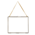 Nkuku Extra Large Kiko Antique Brass Glass Frame - Landscape 29x36cm: Image 1