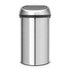 Brabantia 60 Litre Fingerprint Proof Touch Bin - Matt Steel: Image 1