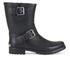 Lauren Ralph Lauren Women's Mora Matt Buckle Rubber Boots - Black: Image 1