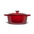 Le Creuset Signature Cast Iron Round Casserole Dish - 28cm - Cerise: Image 4