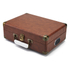 GPO Retro Attache Briefcase Style Three-Speed Portable Vinyl Turntable with Free USB Stick and Built-In Speakers - Vintage Brown: Image 2