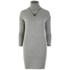 nümph Women's Roll Neck Jumper Dress - Light Grey: Image 1