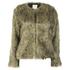 nümph Womens Fake Fur Box Jacket - Brown: Image 1
