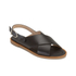 HUGO Women's Valenteen Snake Print Leather Crossover Sandals - Black: Image 5