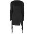 Lavish Alice Women's Suede Fringe Detail Mini Dress - Black: Image 1