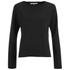 Helmut Lang Women's Raw Raglan Sweatshirt - Black: Image 1