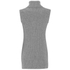French Connection Women's Abel Knits High Neck Jumper - Grey Melange: Image 2