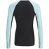 Skins A200 Womens Thermal Long Sleeve Compression Round Neck Top - Black/Glacier: Image 2