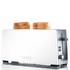 Graef 2 Slice Long Shot Toaster - White Gloss: Image 1