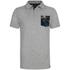 Animal Men's Floral Pocket Nep Polo Shirt - Grey Marl: Image 1